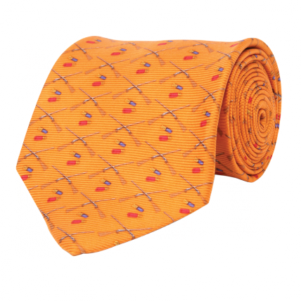Wm. Lamb & Son - Shotgun Tie - Orange